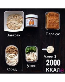 Рацион на 2000 ккал в день: простое меню, рецепты и продукты